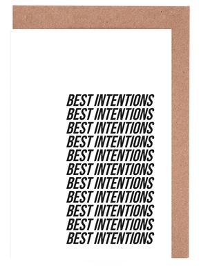 best intentions Set de cartes de vœux