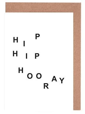 hip hip hooray cartes de vœux
