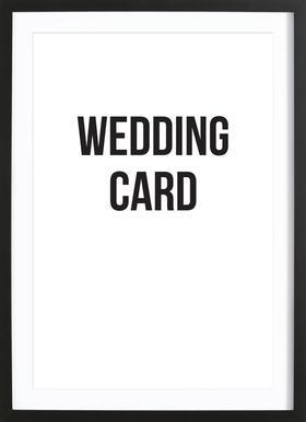 wedding card ingelijste print