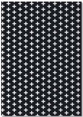 Cross Black And White notitieblok