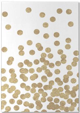 Gold Glitter notitieblok