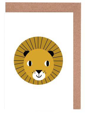 Lion Greeting Card Set