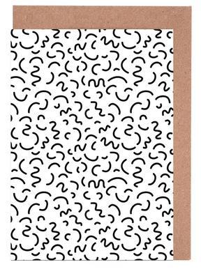 Memphis Squiggle Greeting Card Set