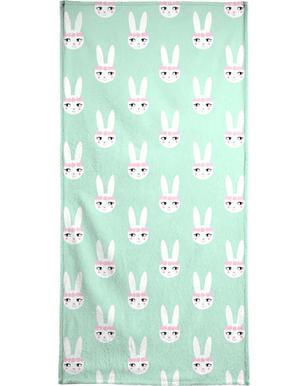 Easter Bunny Mint Beach Towel