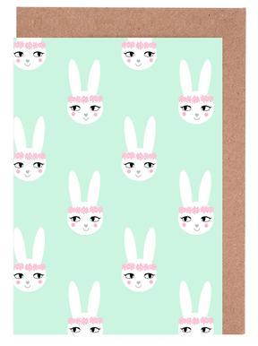 Easter Bunny Mint wenskaartenset