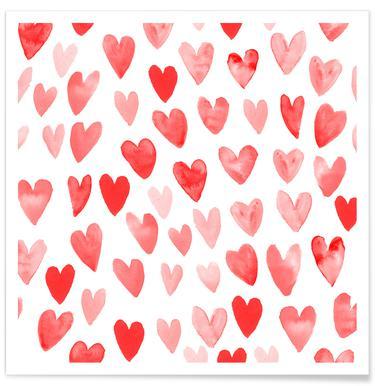 Valentines Hearts affiche
