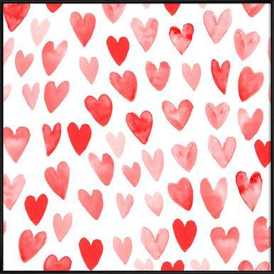 Valentines Hearts Framed Poster