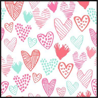 Valentines Pretty ingelijste poster
