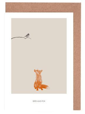 Bird And Fox Greeting Card Set