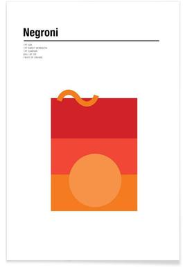 Minimalist Negroni Poster