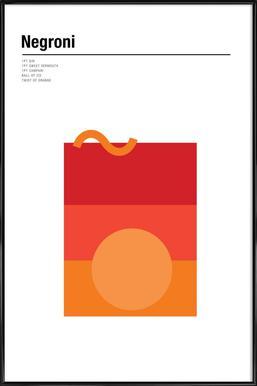 Negroni Poster in Standard Frame