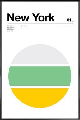 New York Poster im Kunststoffrahmen