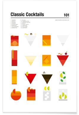 Classic Cocktails Affiche
