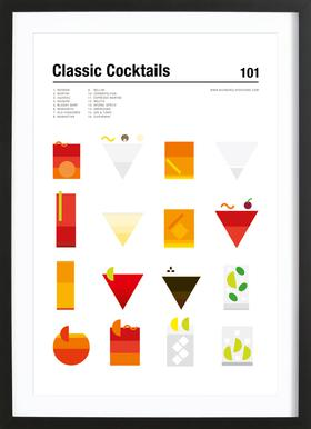 Classic Cocktails As Premium Poster By Nick Barclay JUNIQE - Minimal movie posters nick barclay