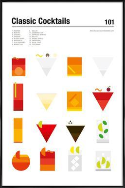 Classic Cocktails affiche encadrée