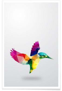 Geometric Bird Poster