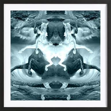 Pale horses Framed Print