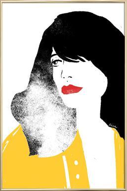 French Girl poster in aluminium lijst
