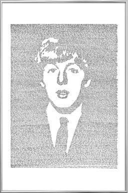 Paul -Poster im Alurahmen