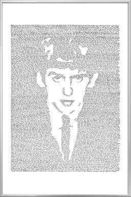 George -Poster im Alurahmen