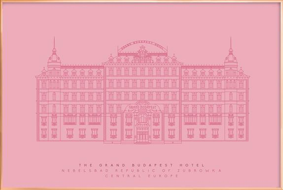 the grand budapest hotel pink as poster by mat voyce juniqe