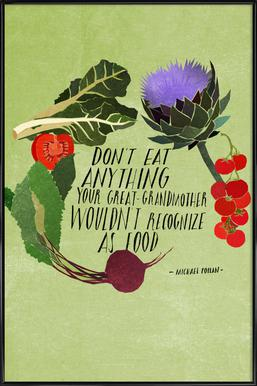 Don't Eat Anything Affiche sous cadre standard