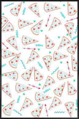 Pizza As Poster In Standard Frame By Eva Wünsch Juniqe