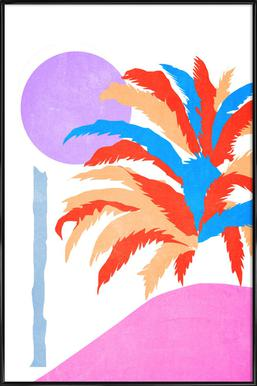 Palm 5 affiche encadrée