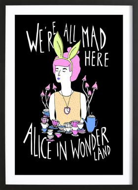 Alice In Wonderland As Poster In Wooden Frame By Eva Wünsch Juniqe