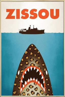 zissou as poster in aluminium frame by chris wharton juniqe