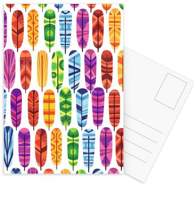 Feathers Postcard Set