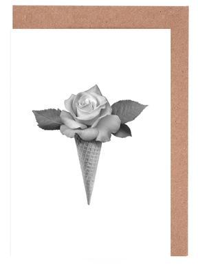 Rose Cream Set de cartes de vœux