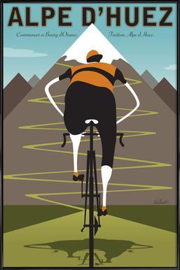 Alpe d'Huez Poster in Standard Frame