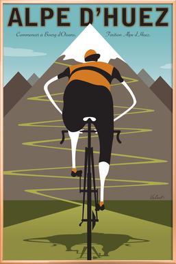 Alpe d'Huez Poster in Aluminium Frame