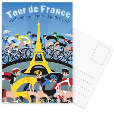 Tour de France Set de cartes postales