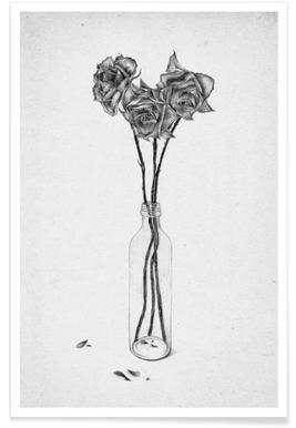 les fleurs 1 as aluminium printthe white deer | juniqe