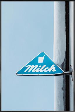Milch Poster im Kunststoffrahmen