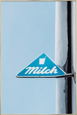 Milch Poster im Alurahmen