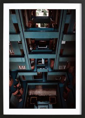 Walden Tetris Poster im Holzrahmen