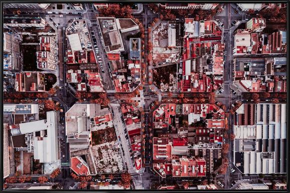 Barcelona Poster im Kunststoffrahmen