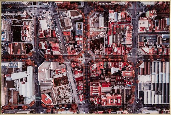Barcelona Poster im Alurahmen