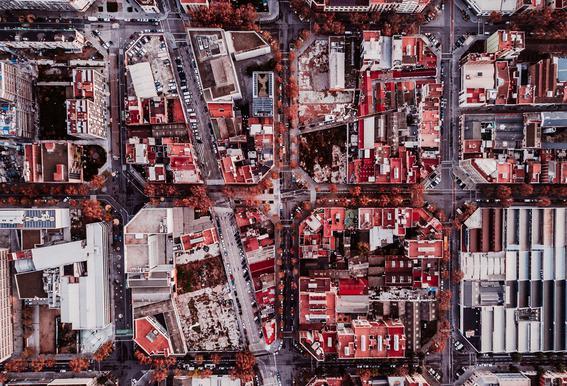 Barcelona Alu-Dibond Druck