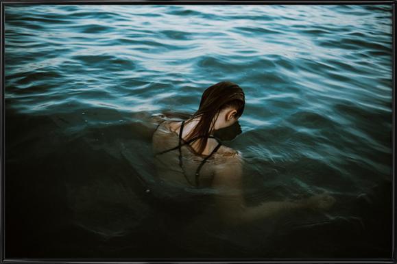 Drowning -Bild mit Kunststoffrahmen