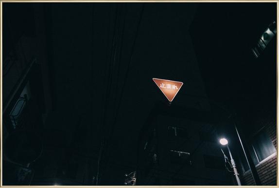 Tokio Nights Poster im Alurahmen