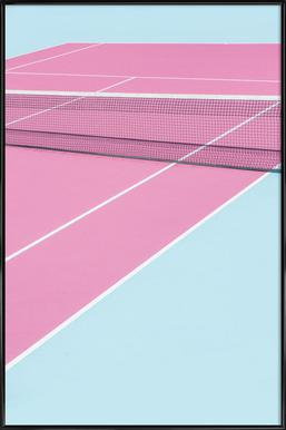 Pink Court - Net Poster in Standard Frame