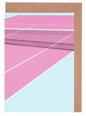 Tennis greeting cards juniqe pink court net chris abatzis greeting card set m4hsunfo