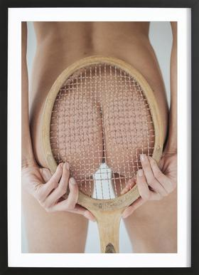 Retro Tennis Framed Print