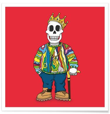 Biggie Skull Poster