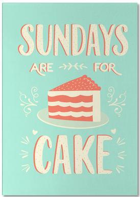 Sundays Are For Cake Notizblock
