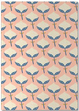 Scandinavian Flower Pattern Notebook